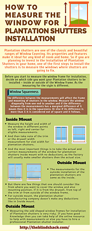 How to measure the window for Plantation Shutters Installation
