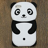 iPhone Cute 3D Panda Cartoon Animals Soft Silicone Case For iPhone 7