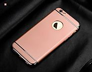 iPhone Case 3-in-1 Luxury Plating Scrub Simple Protective Case