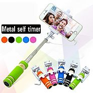 Jack Cable Selfie Stick 3.5mm with Adjustable Phone Holder