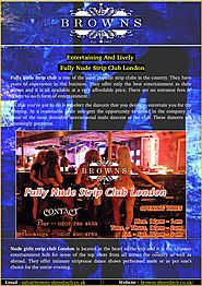 Entertaining and lively nude strip club