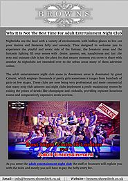 Why It Is Not The Best Time For Adult Entertainment Night Club
