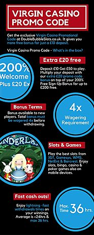 Virgin Casino promotional code – Deposit £10 get £50 to play!