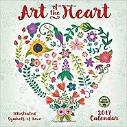 Art of the Heart 2017 Wall Calendar: Illustrated Symbols of Love Calendar – Wall Calendar, June 21, 2016