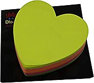 "4A Sticky notes Heart Shape, 3"" x 3"", fluorescent color five-color collection, 200 Sheets/Pad (4A 5036)"