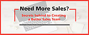 Need More Sales? Secrets behind to Creating a Better Sales Team | MLeads Blog
