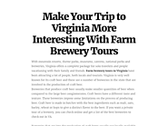 Farm Brewery Tour Near Blue Ridge