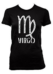 Cyberpunk Distressed Virgo Ladies T-Shirt For Cyber Cool Nuts Like You, Fellow Virgo