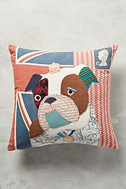 Patchwork Pup Pillow