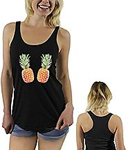 Awkwardstyles Women's Pineapple Sayings Racerback tank tops + Bookmark