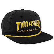 Thrasher Magazine Shop - Black Thrasher Rope Snapback Hat