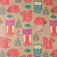 Woodland Creatures Kraft Roll Wrap