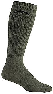 Tactical Merino Wool, Over the Calf Mountaineering, Extra Cushion Boot Sock, Style #14050 Coyote Brown / Medium