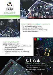 Deck the Home Laser Lights Red Green Blue Motion Pinpoints Premium Christmas Laser Light Projector with RF Remote