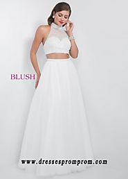Pink By Blush 5512 Divine Two Piece Open Back Ball Gown Online