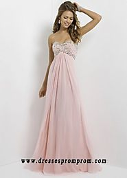 Pink Long Open Back Strapless Shiny Rhienstone Top Perfect Prom