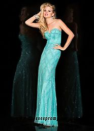 Scala 47706 Strapless Sweetheart Beaded Prom Gown For Women Styl