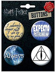Ata-Boy Harry Potter Best Seller Assortment #1 4 Button Set