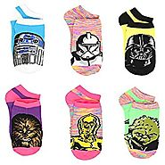 Star Wars Girls Womens 6 pack Socks (Little Kid/Big Kid/Teen/Adult)