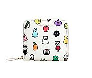 Ghost Pop Women's Single Zip Coin Purse Wallet