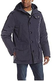 Tommy Hilfiger Men's Poly Twill Full-Length Hooded Parka