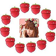 ShungHO 12pcs Magic Girls Strawberry Balls Soft Foam Sponge Hair Care Curler Rollers