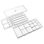 InterDesign Linus Fashion Jewelry Vanity and Drawer Organizer Tray for Rings, Earrings, Bracelets, Necklaces - 3 piec...
