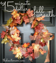 The How To Mom: 15 minute 15 dollar fall wreath