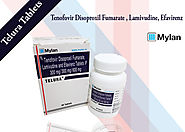 Mylan Telura Tablets Indian | Tenofovir Disoproxil Fumarate 300mg Lamivudine 300mg Efavirenz 600mg Tablets Price | Ge...