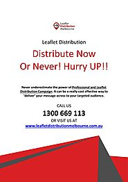 Target Your Audience with Printed Leaflet Distribution in Melbourne