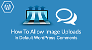 How To Allow Image Uploads In Default WordPress Comments?
