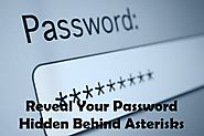 How To Reveal Your Password Hidden Behind Asterisks - Free Tech Tutors