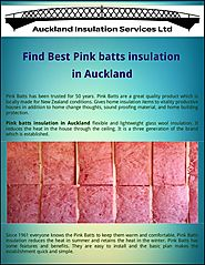 Find best pink batts insulation in auckland