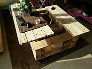 Multifunction coffee table, complete with storage and slide out top