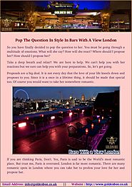 Find Your Partner At Bars With A View London