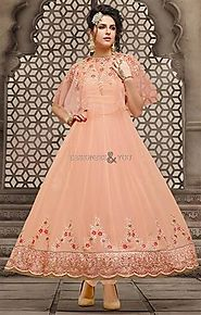 Sophisticated Designer Anarkali Suit With Stylish Look At Best Price