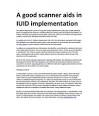 A good scanner aids in IUID implementation