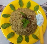 Mint rice recipe : vegetarian | Famous Indian Recipes | Pudina rice recipe