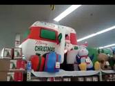 Inflatable Super COOL Santa Claus RV Airblown Animated Blowup