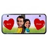 couple and hearts name plate