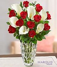 45407 Luxurious Red Rose And Calla Lily Bouquet