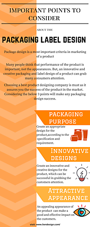 Important points to consider about the Packaging Label Design of a Product