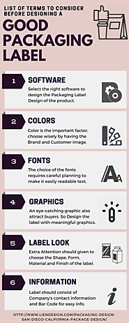 List of Terms to Consider Before Designing a Good Packaging Label