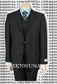 3 Piece Black Suit to Enhance Your Overall Appearance