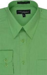 Make Better Your Look with Bright Green Dress Shirt