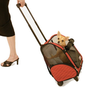 Snoozer Roll Around 4-in-1 Pet Carrier, Red & Black, Medium
