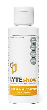LyteShow - Electrolyte Concentrate for Rapid Rehydration - 40 Servings (With Magnesium, Potassium, Zinc)