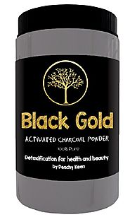 Activated Charcoal Powder, LARGE JAR, FOOD GRADE. For detoxification, teeth whitening, beauty mask, poison adsorption...