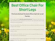 Best Office Chair For Short Legs