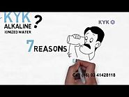 Alkaline water ionizer india from kyk call for demo 08520994916 or 09700100520
